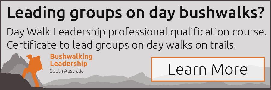 Leading groups on day bushwalks? Obtain certificate skills on the Bushwalking Leadership professional qualification course by Bushwalking Leadership SA.