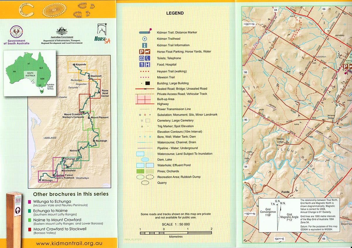 Kidman Trail Map 5 Stockwell to Kapunda Walking SA