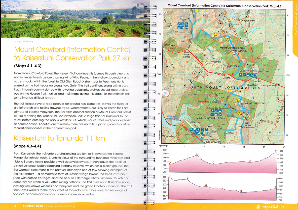 Heysen Trail Book 1 Cape Jervis to Spalding  Walking SA