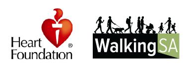 Heart Foundation SA and Walking SA logos