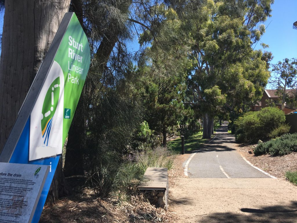 Sturt River Linear Park – South Road to Anzac Highway