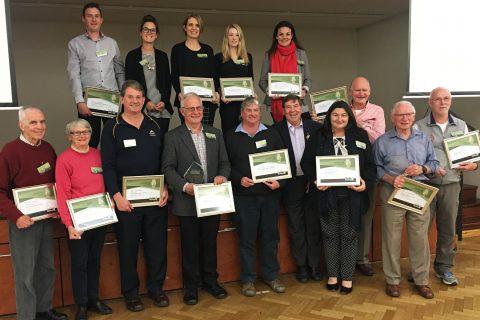 2016 walking award winners at the award presentation, 13 October 2016