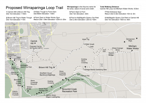 Map of potential Wirraparinga Trails