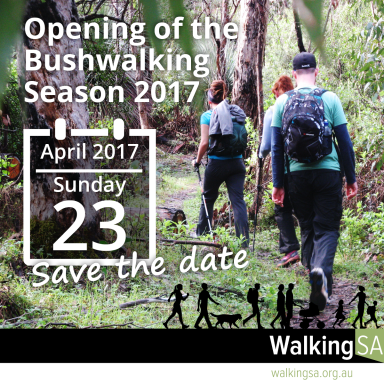 Save the date, Opening of the Bushwalking Season 2017