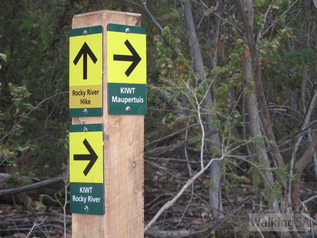 Each day's hike is clearly marked into sections, here Day 1 is KIWT Rocky River and Day 2 is KIWT  Maupertuis