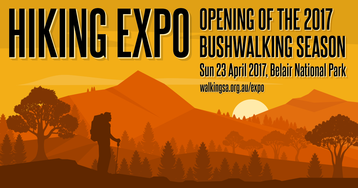 Hiking Expo, Opening of the South Australian Bushwalking Season, 23 April 2017 at Belair National Park