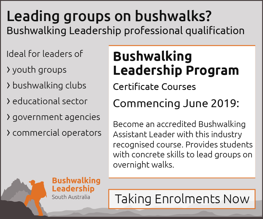 Bushwalking Leadership professional qualification courses commencing June 2019