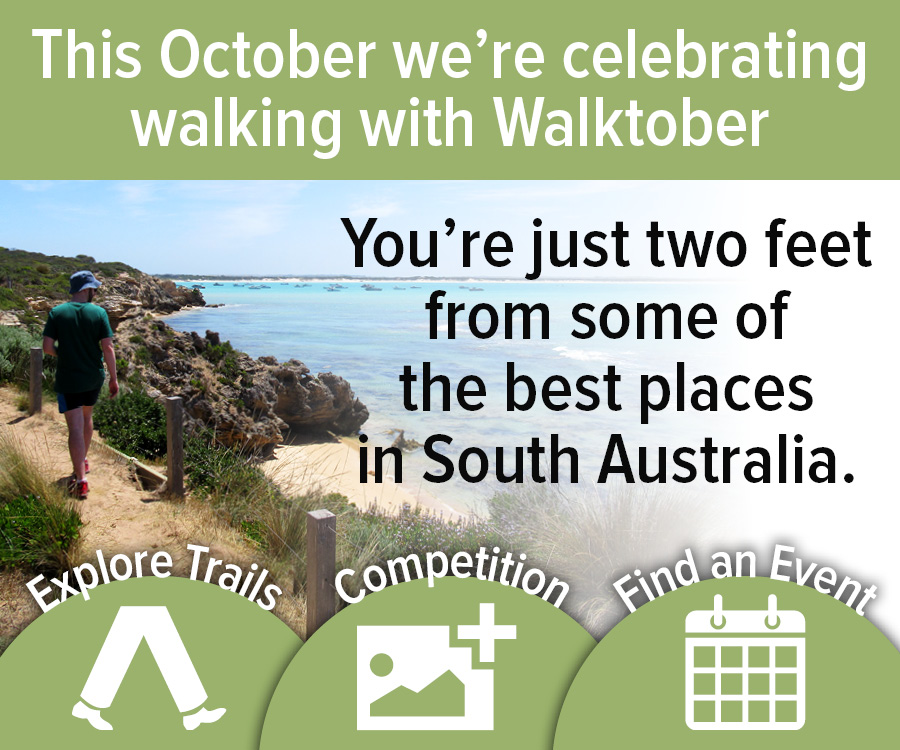 Throughout October we're celebrating walking with WalktoberSA