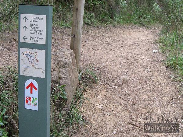 Yurrebilla Trail signage, Morialta Conservation Park