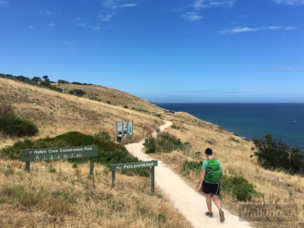 Northern entrance to Hallett Cove Conservation Park