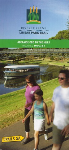 River Torrens Linear Trail, Brochure 2, Maps 3 & 4, Adelaide CBD to the Hills