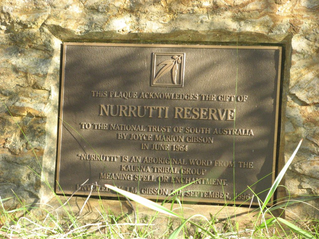 "Nurrutti Reserve - ""Nurrutti"" is a Kaurna word meaning spell or enchantment."