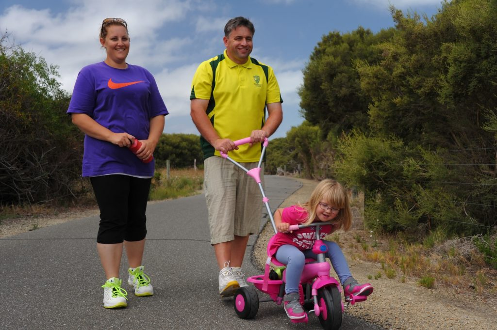 Family fun, walking on Encounter Bikeway