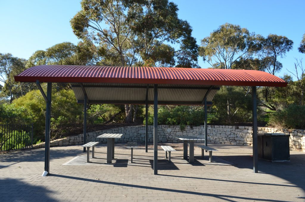 Picnic tables, BBQs and shelters available at the park