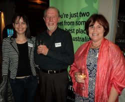 Dannielle McBeath, Executive Officer, with Cate Mettam, former President and Brian Goodhind, former Administration Officer