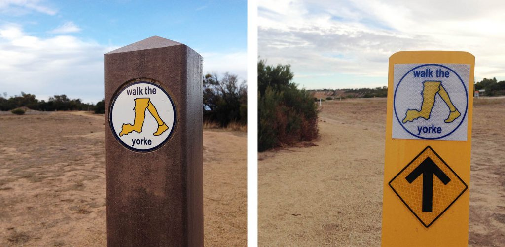 Walk the Yorke signage March 2015, 2 x signs