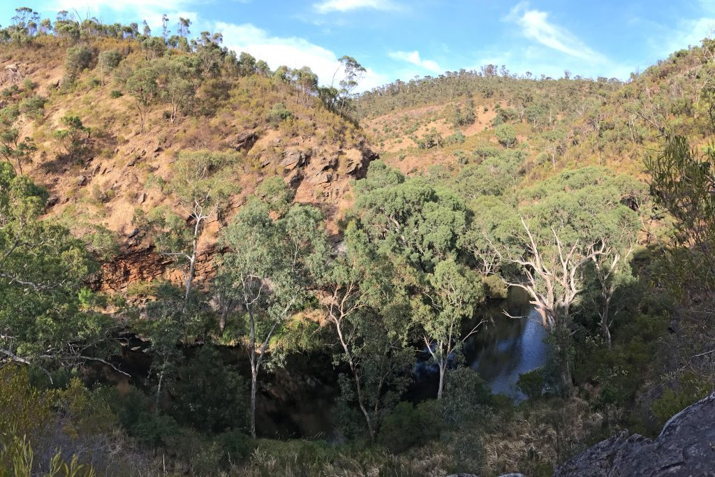 Views over Onkaparinga River Gorge