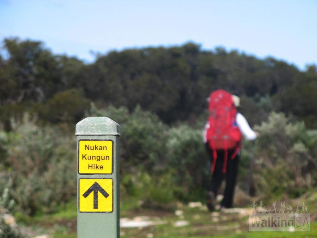 Following the markers, Nakun Kungun Trail