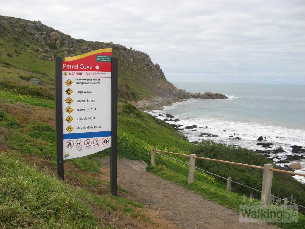 Petrel Cove, near the Bluff