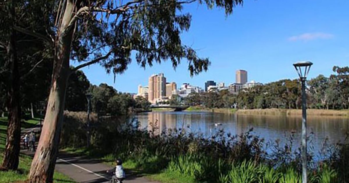 River Torrens Linear Trail West Beach To Adelaide Cbd To