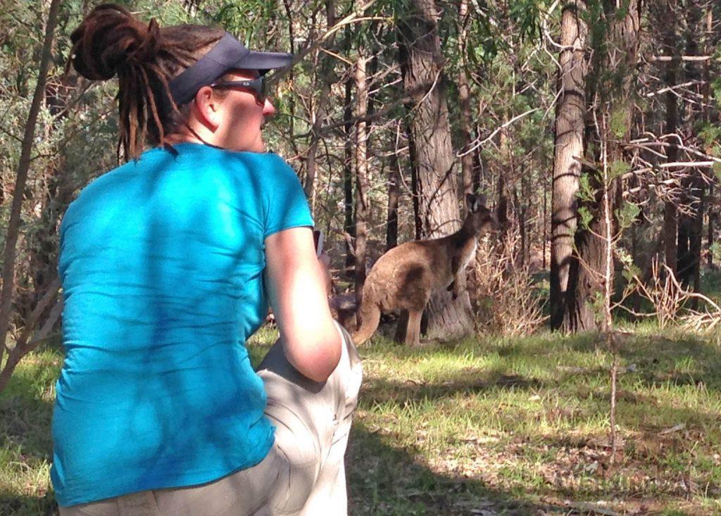 Up close with a kangaroo