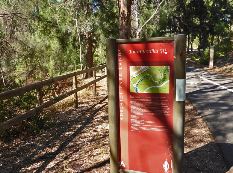 Signage along the paths