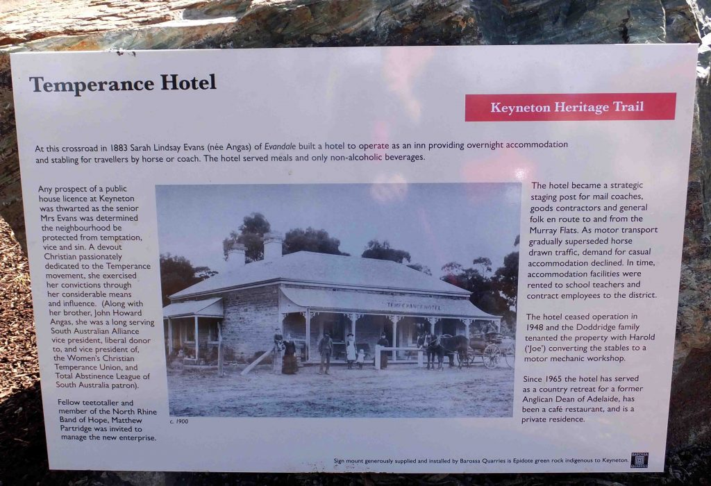 Site 12 : Temperance Hotel history