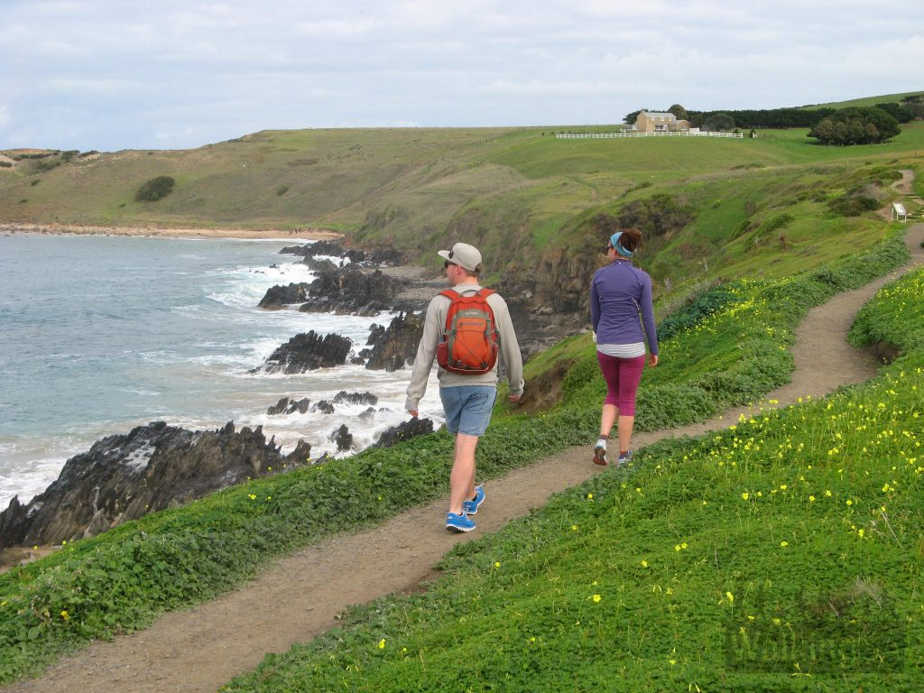 Walking the Victor Harbor Heritage Trail towards Kings Beach and the Heysen Trail