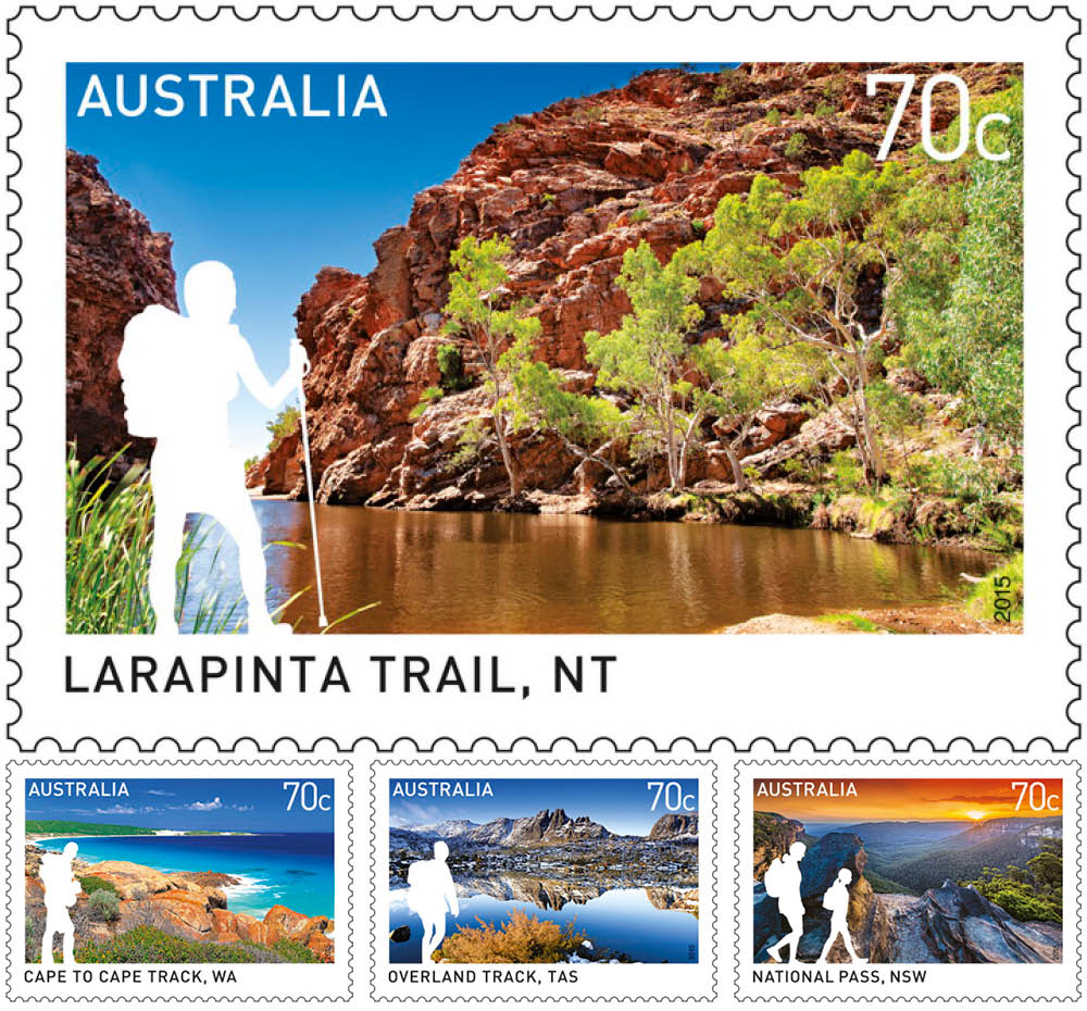 Great Australian bushwalking tracks celebrated in new stamp issue