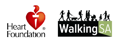 Heart Foundation SA and Walking SA logos