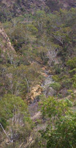 A rugged gorge