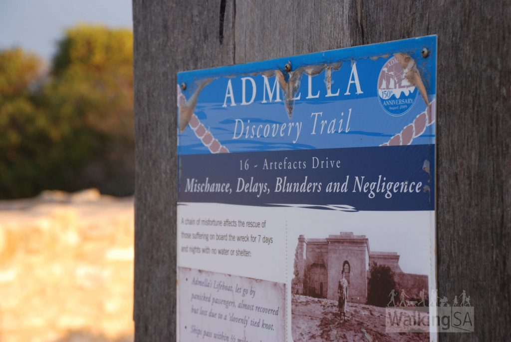 Takes in historical sites from the Admella Trail (130km driving route)
