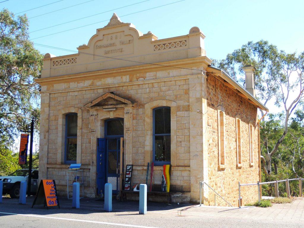 historic Institute building at Coromandel Valley