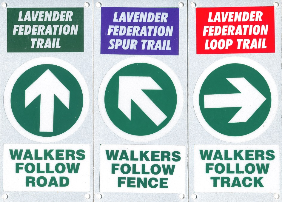 Examples of trail markers