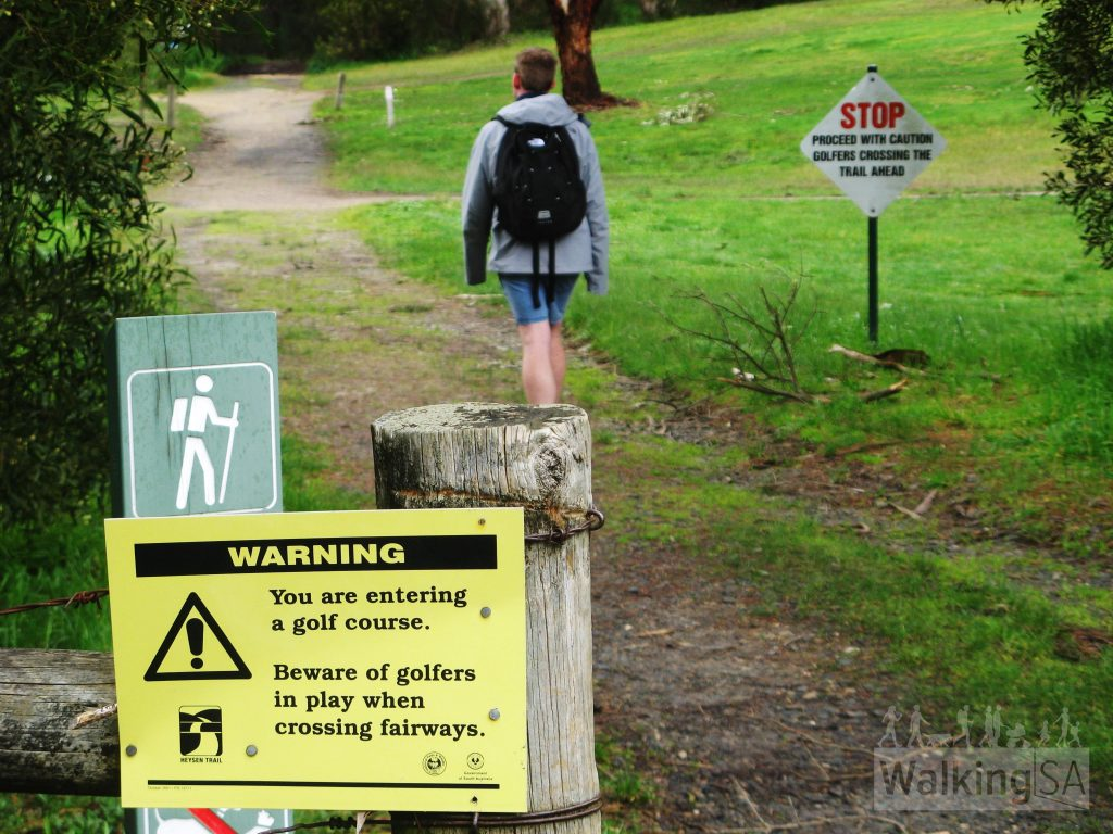 Beware of golfers in the Stirling Golf Course