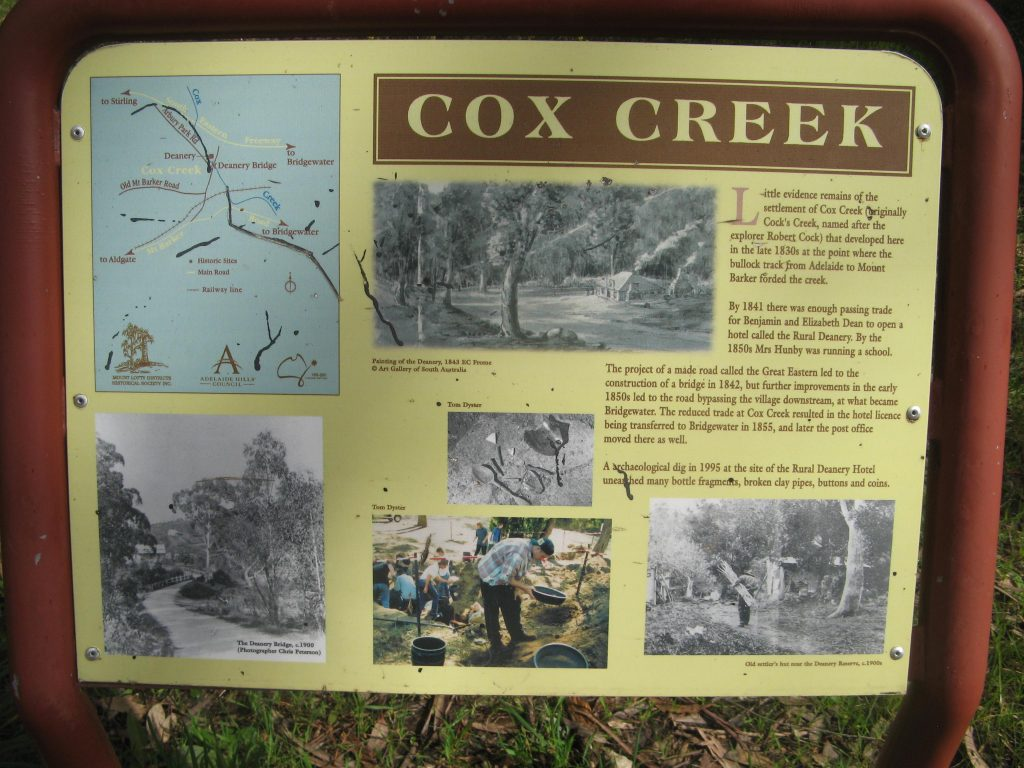 Cox Creek intrepretive signage