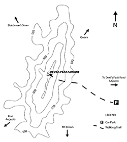 Devil's Peak Walking Trail hiking map