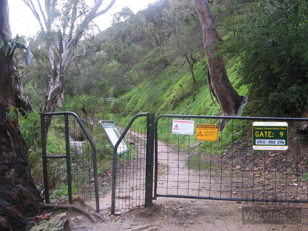 Enter Cleland Conservation Park at Gate 9 - CP44
