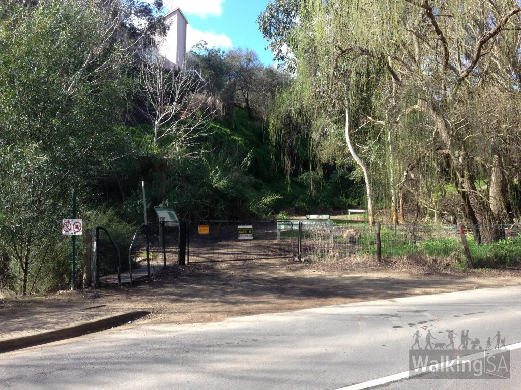 Gate 11, the start of the Winter Track, on Waterfall Gully Road