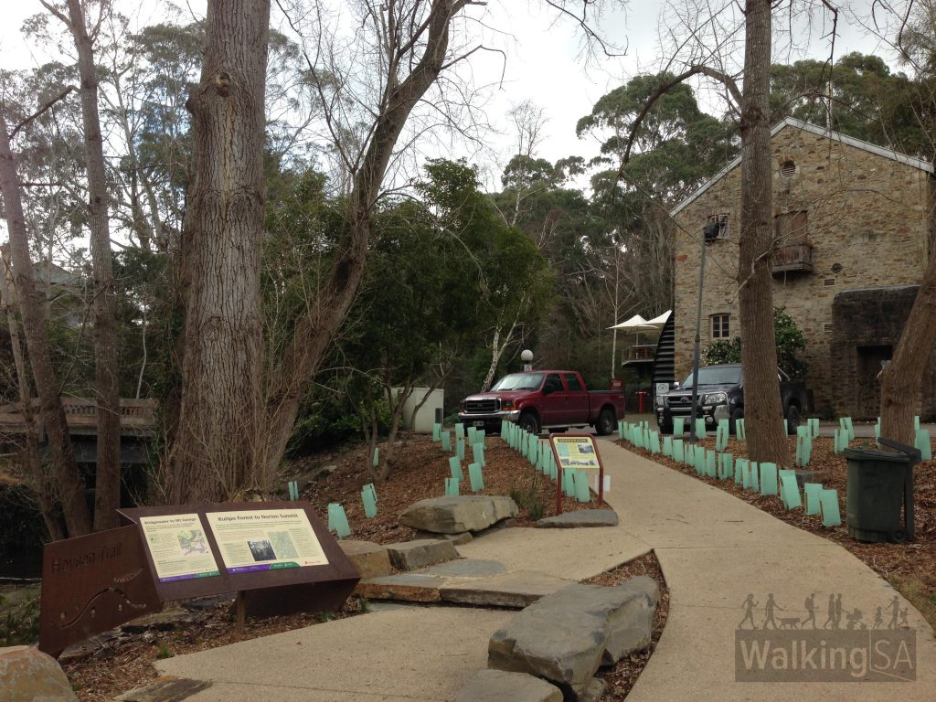 The Heysen Trail trailhead at Old Bridgewater Mill