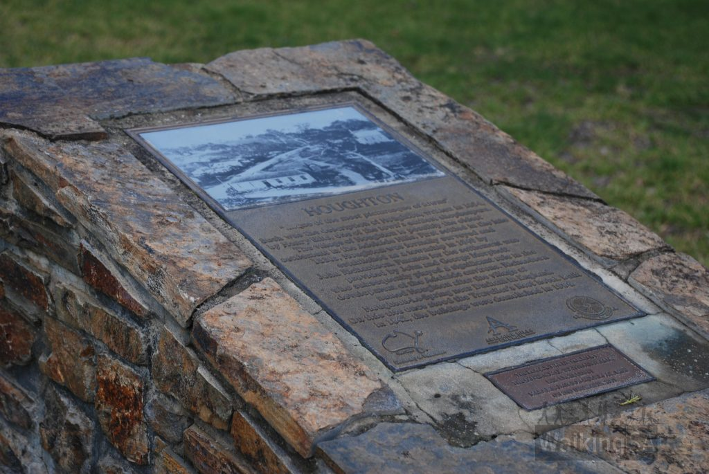 Historical information along the Soldiers Memorial Walk, Houghton