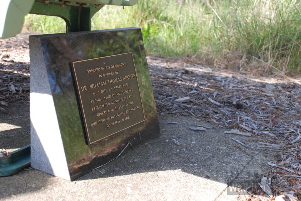 Memorial chair to Dr William Thomas Angove