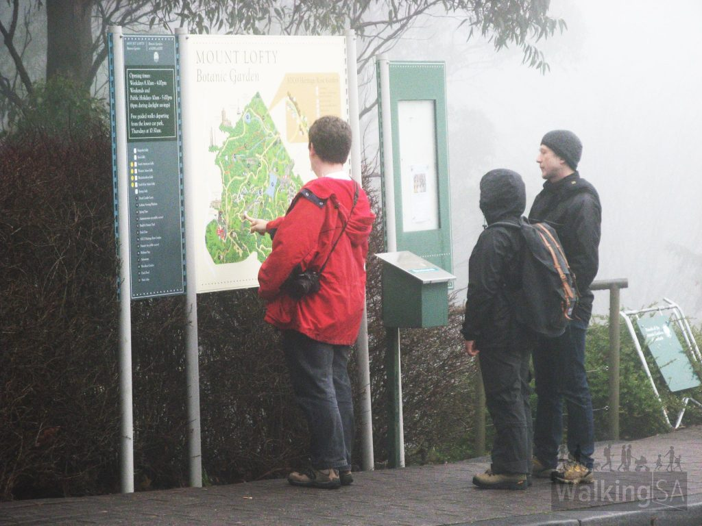 Mount Lofty Botanic Gardens signage, on the Heysen Trail