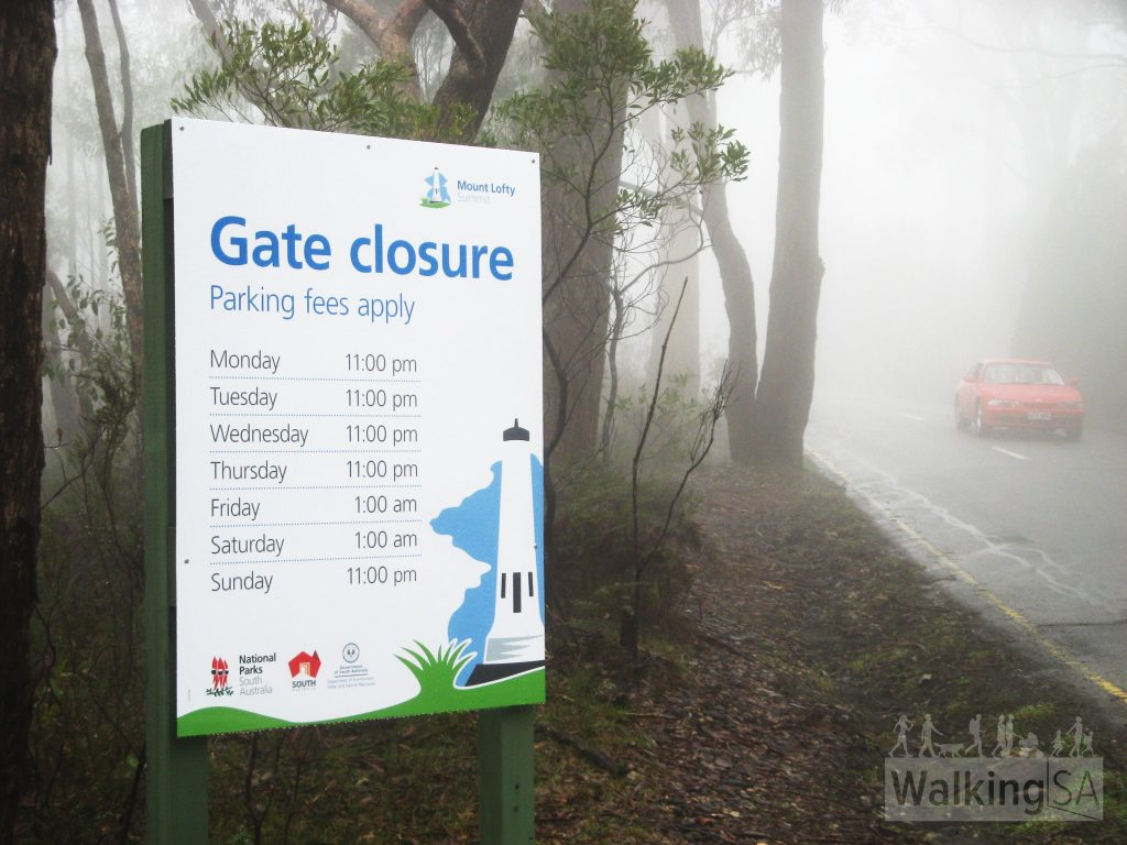 Mt Lofty Summit carpark closure times