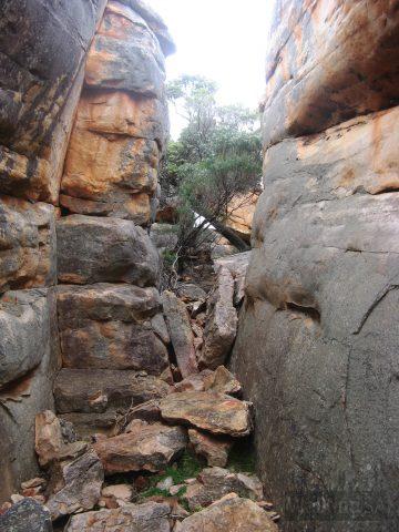 Some rock scrambling on the hike