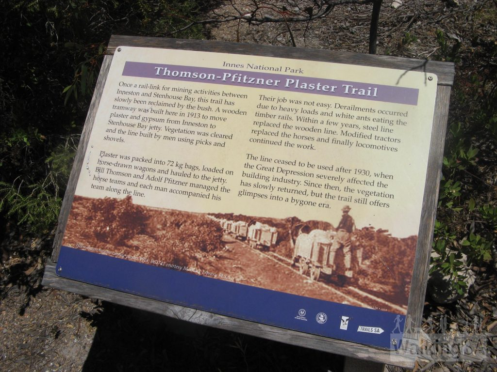 Interpretive trail signage