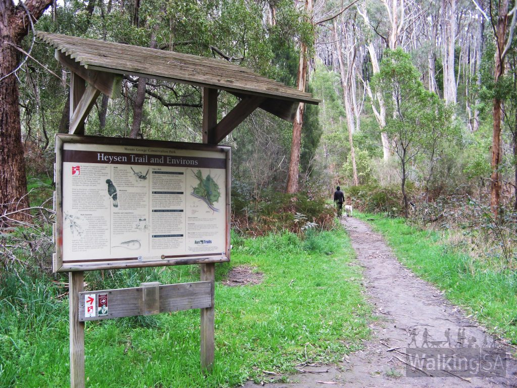 Trailhead sign in Mount George Conservation Park