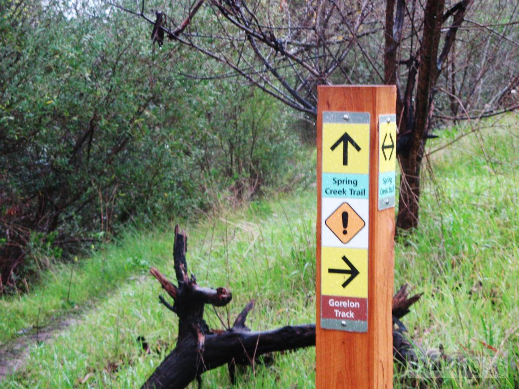 Trails are well signposted, Spring Creek Trail