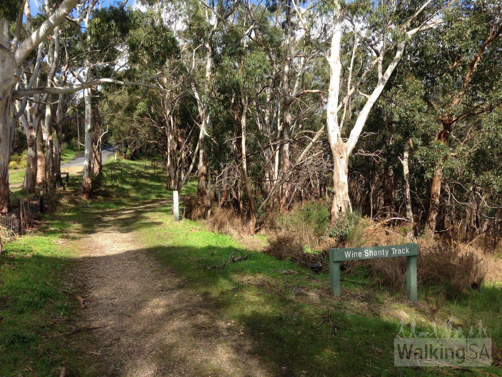 Wine Shanty Track near Greenhill Road