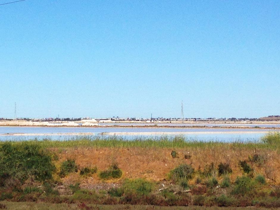 Salt pans near Barker Inlet